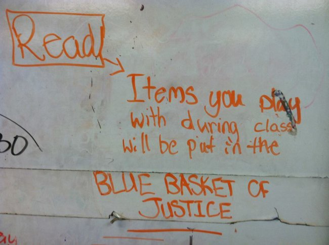 Blue Basket of Justice