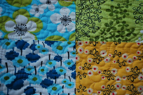Pick A Bunch Quilt - Quilting Detail