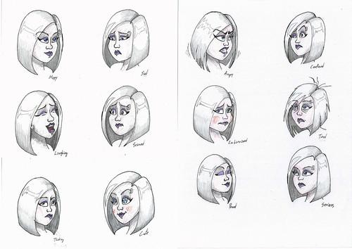 Anca - facial expressions 3/6