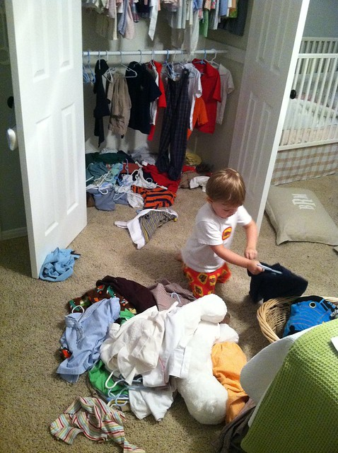 Bennett tears up his closet