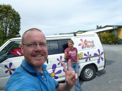 New Zealand, Miranda - hippie camper
