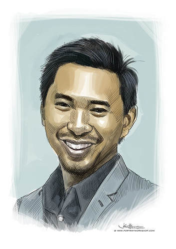 digital portrait of martin-tan