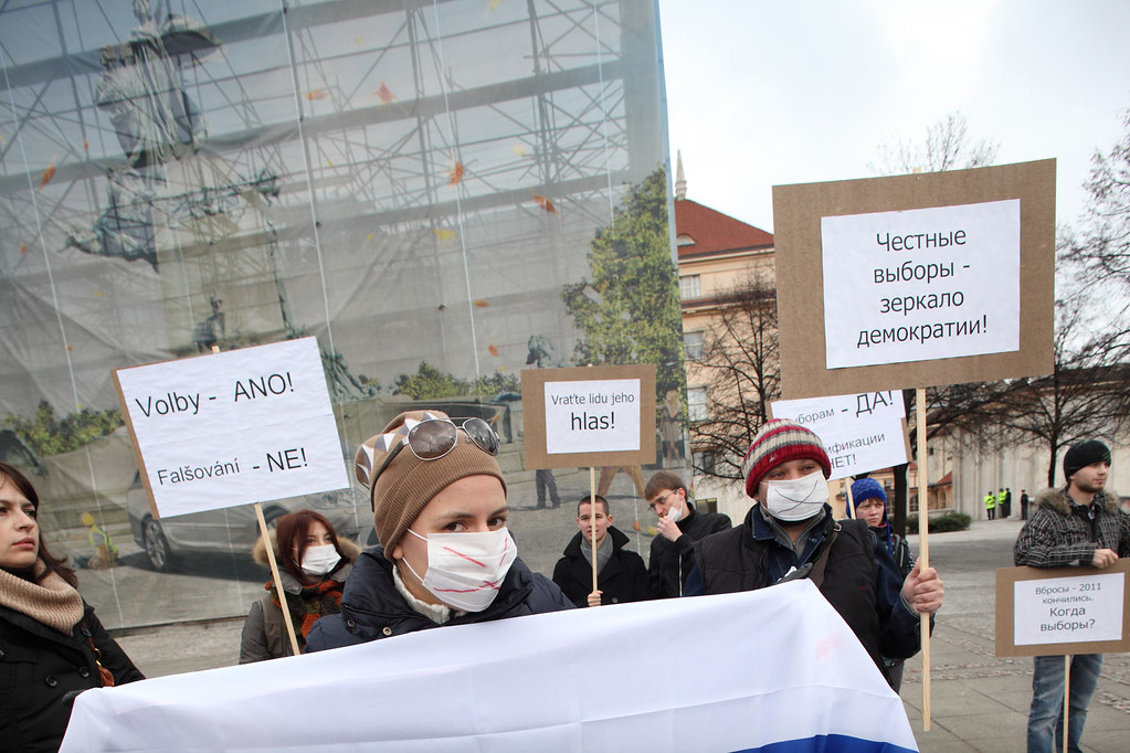 Russian protest in Prague 1