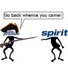 JetBlue Fights Spirit in Boston
