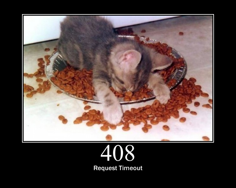 408 - Request Timeout by GirlieMac, on Flickr - http://www.flickr.com/photos/girliemac/6508023179/