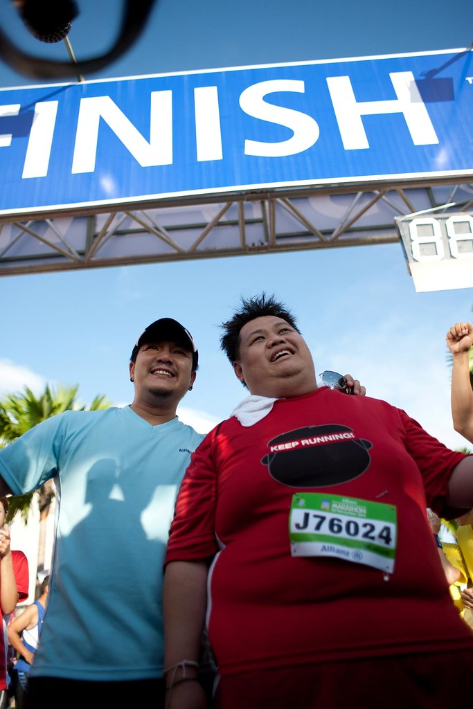 Penang Bridge International Marathon, finish line