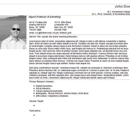 faculty website template