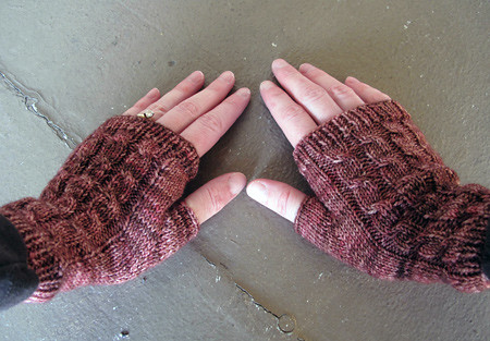 Fingerless Mitts for Meg