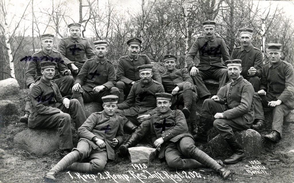 1 missing, 2 dead and 5 wounded / Reserve-Infanterie-Regiment Nr. 202