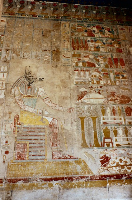 Ancient egyptian tomb painting anubis flickr photo for Ancient egyptian mural paintings