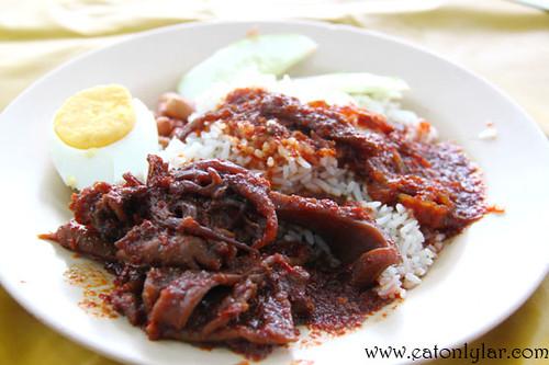 Nasi Lemak with Sambal Sotong, Nasi Lemak Warong SInarNor