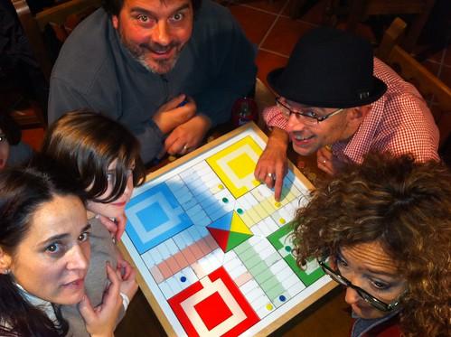 Isabel, Santi, Jon Fano y Mabel, en el Campeonato Parchis 2011 by LaVisitaComunicacion