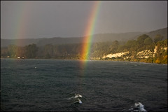 Amazing rainbow over Lake Taupo