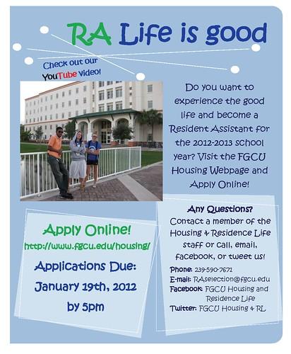 RA Recruitment Flyer