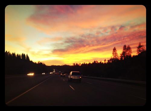 california sunset highway laketahoe sacramento highway80