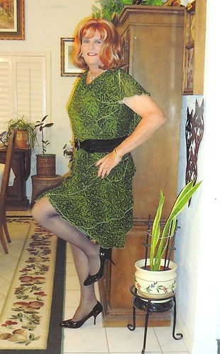 Green/Black Dress by bobbievnc