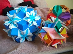 Paper Flowers 86 Photos | Kusudamas and Icosahedron | 609