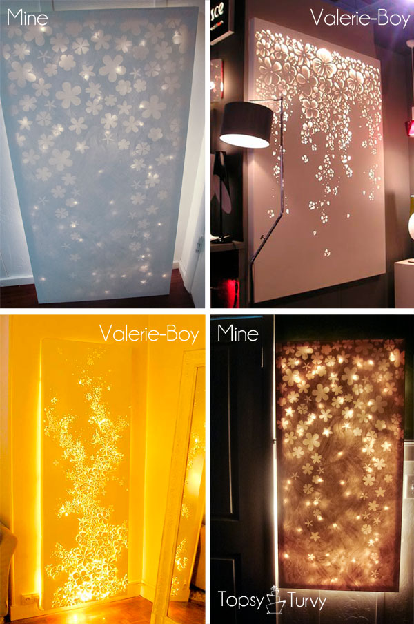 Love Led Wall Decor : Lit up canvas wall decor elmers look for less ashlee marie