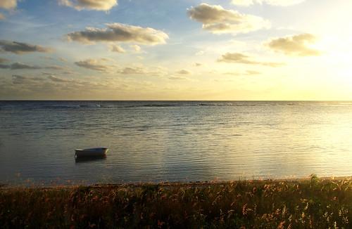 ocean beach water sunrise island tropical grandcayman
