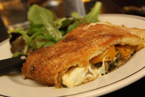 Sausage and Butternut Calzone with Mozzarella