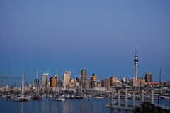 Auckland Westhaven Marina at sunset