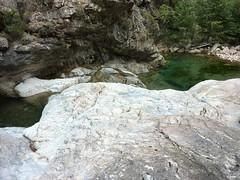 Remontée du Carciara en amont du canyon : 1ère vasque-cascade