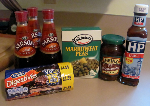 Lots of tasty treats from England!