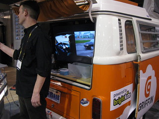 Griffin's decked-out vehicle on display at CES 2010