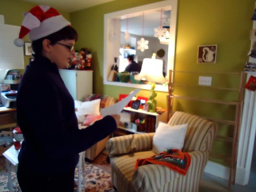 reading Santa's note