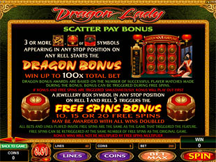 Dragon Lady Slots Payout