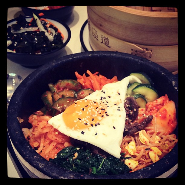 Bibimbap lunch at yamyam in Mitte, Berlin.
