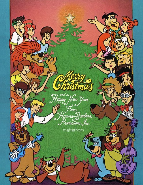 Cartoon Characters 1970s List : Hanna barbera christmas card s flickr photo sharing
