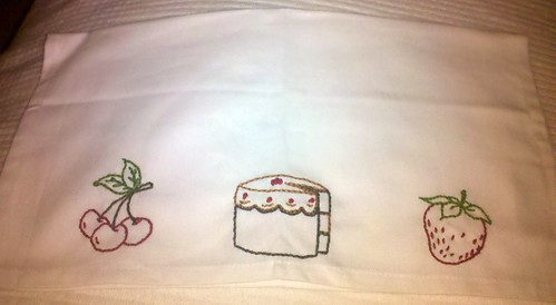 Embroidered Demi Towel by NurseJulie
