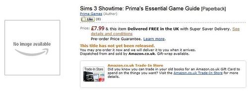 Amazon UK - Pre-Order the Showtime Prima Guide | SimsVIP