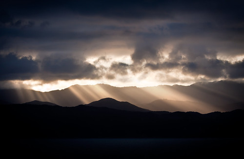 light sun sunlight mountains silhouette clouds contrast sunrise ray cloudy range flickraward