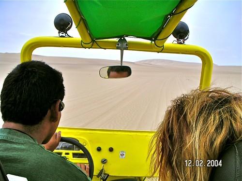 Sandboarding in La Huacachina Oasis