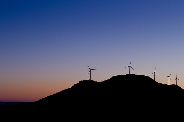 Modernos molinos de viento