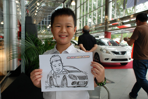 Caricature live sketching for Tan Chong Nissan Almera Soft Launch - Day 1 - 27