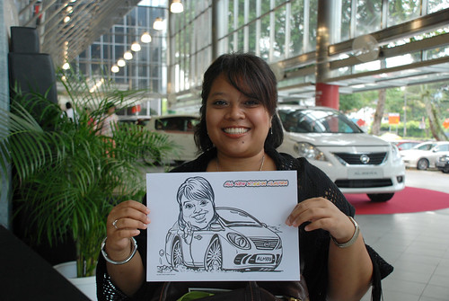 Caricature live sketching for Tan Chong Nissan Almera Soft Launch - Day 1 - 45
