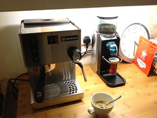 New coffee machine & grinder