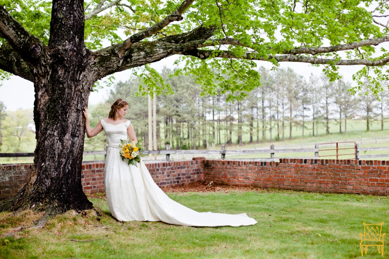gray and yellow outdoor vintage wedding_024