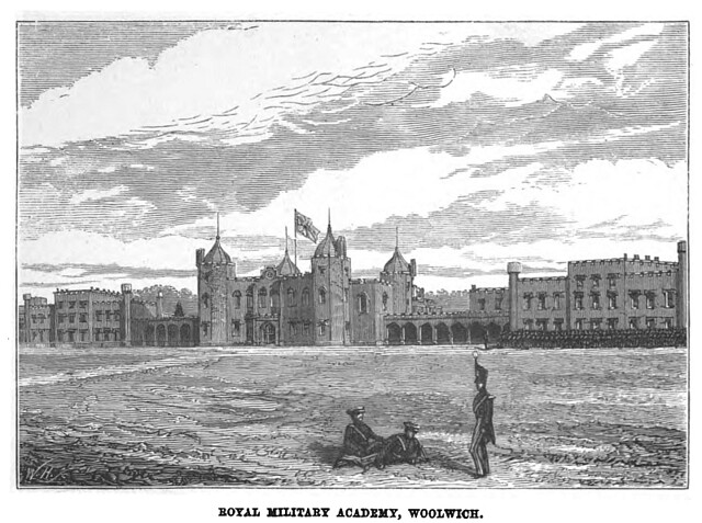 "Picture of the Academy  from a book called ""The Gentleman Cadet His Career and Adventures at the Royal Military Academy Woolwich"" by R.W. Drayson"