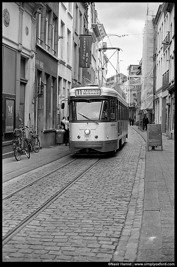 street car in antwerp