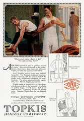 Topkis Mens' Underwear Advert, 1920