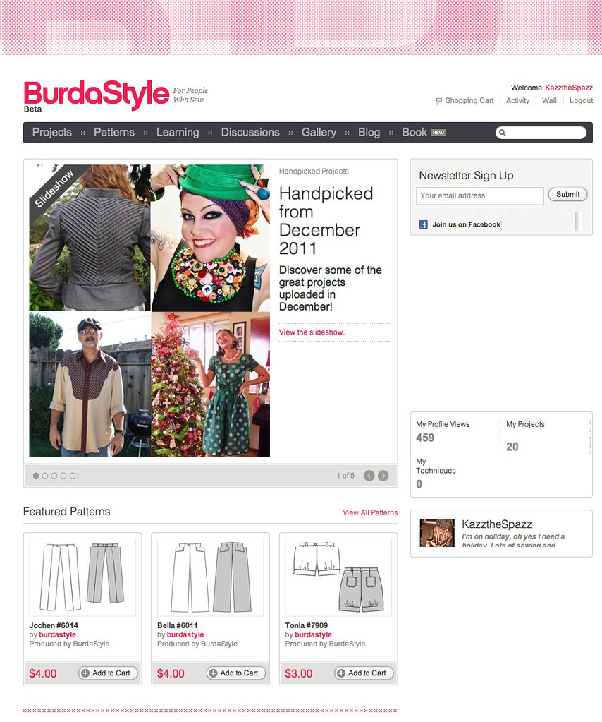 Me on Burdastyle | Press