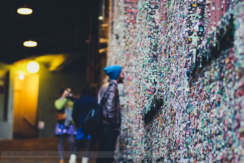 staring at the gum wall