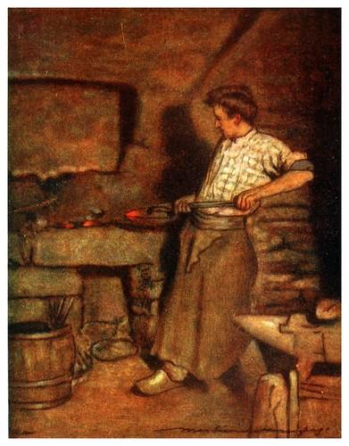 020-La forja del pueblo en Pont-Aven-Brittany 1912- Mortimer y Dorothy Mempes