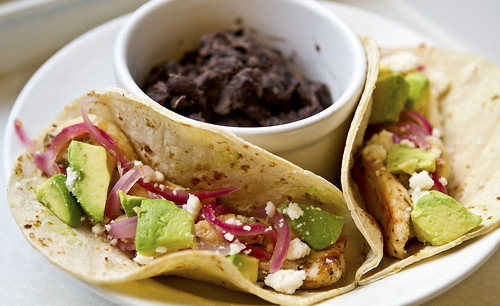 On My Menu: Chicken Carne Asada Tacos with Pickled Onions