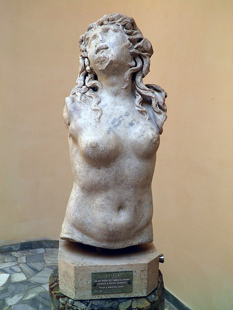 Scylla, found in the nymphaeum of the theatre, Ostia Antica, Italy