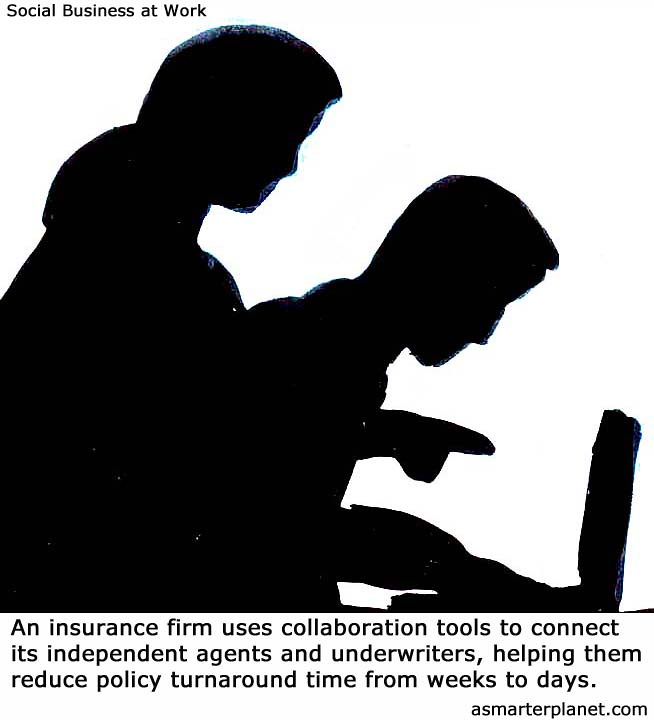 An insurance firm at work
